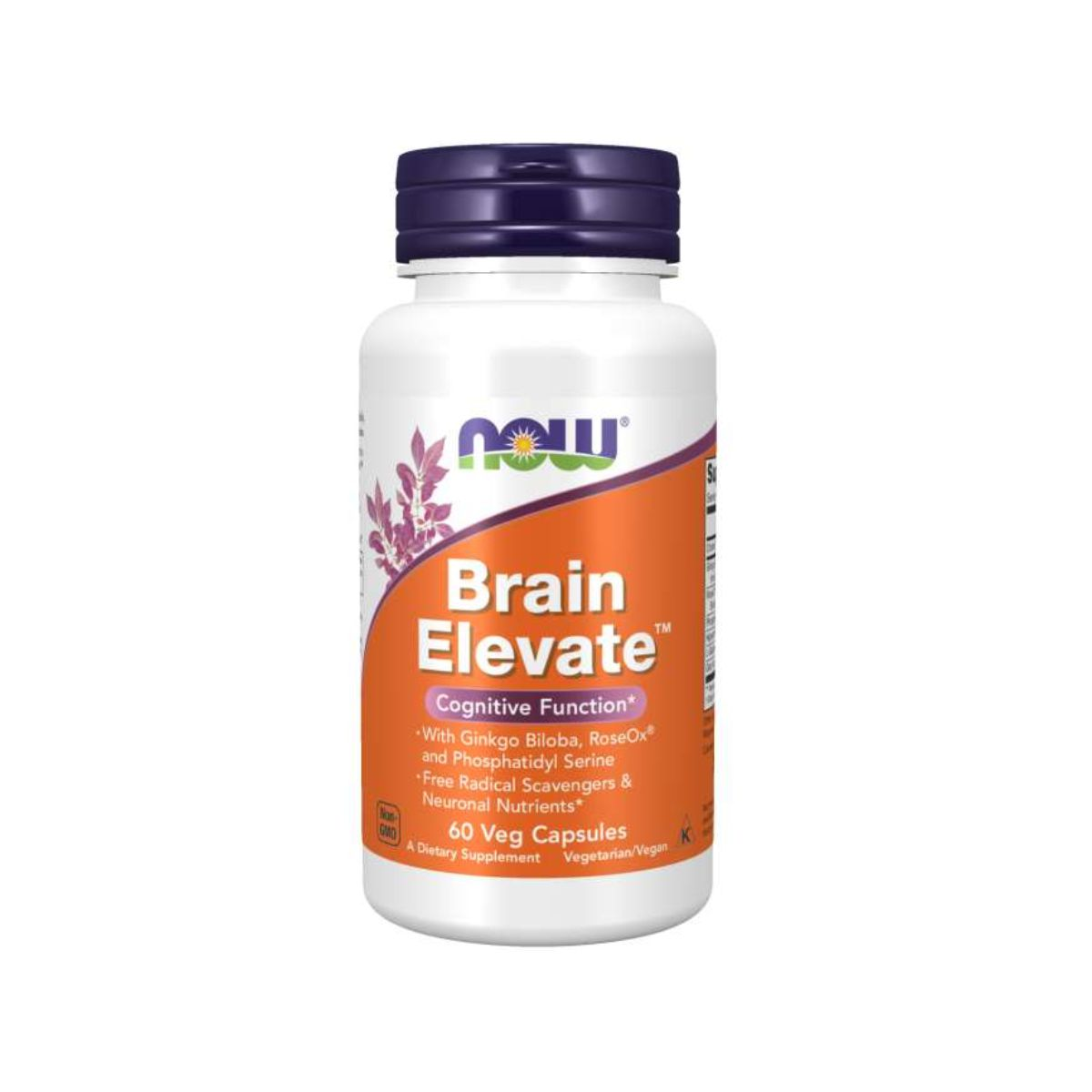 Brain Elevate Coegnitive Function 60Caps - Now Foods