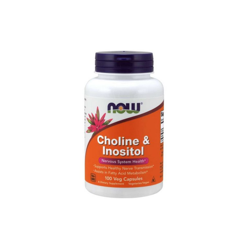 Choline & Inositol 100 Veg Capsules - Now Foods