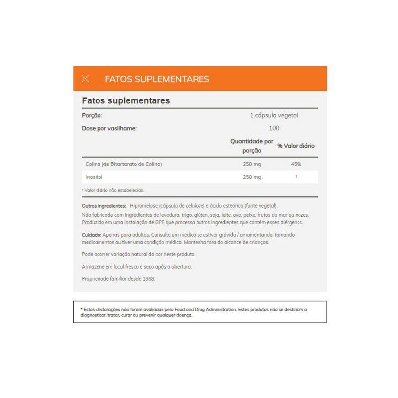 Choline & Inositol 100 Veg Capsules - Now Foods
