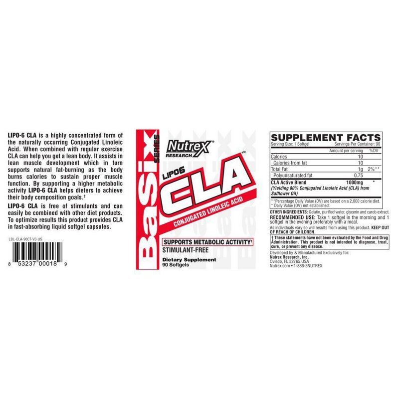 CLA Lipo 6 45 Softgels - Nutrex