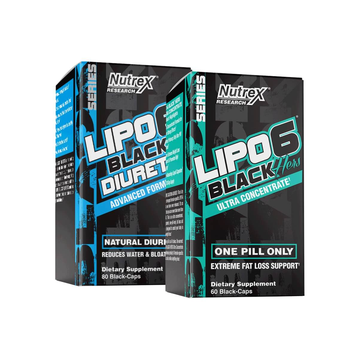 Combo Para Mulheres Lipo6 Black Hers + Lipo 6 Diuretic - Nutrex
