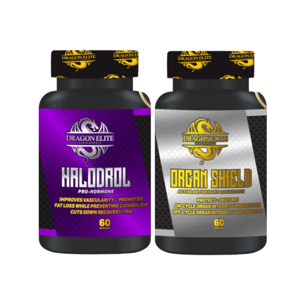 Combo Pró-Hormonal Halodrol + Organ Shield - Dragon Elite
