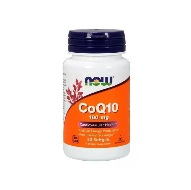 COQ10 100mg 50 Caps - Now Foods