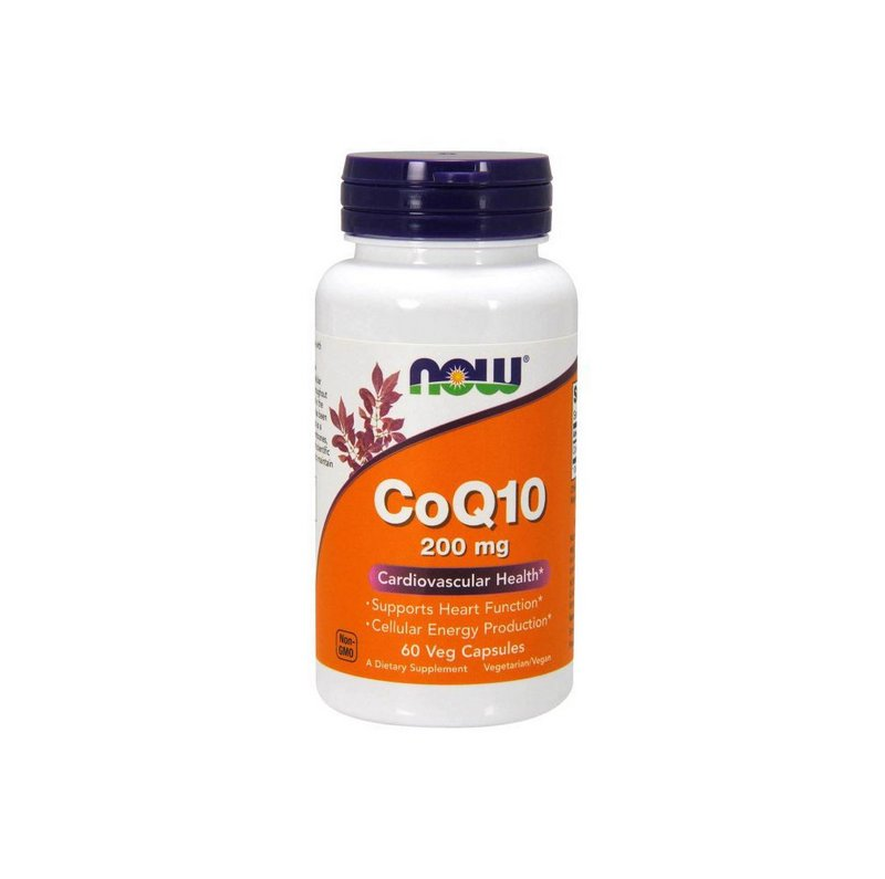 COQ10 200mg 60 Caps - Now Foods