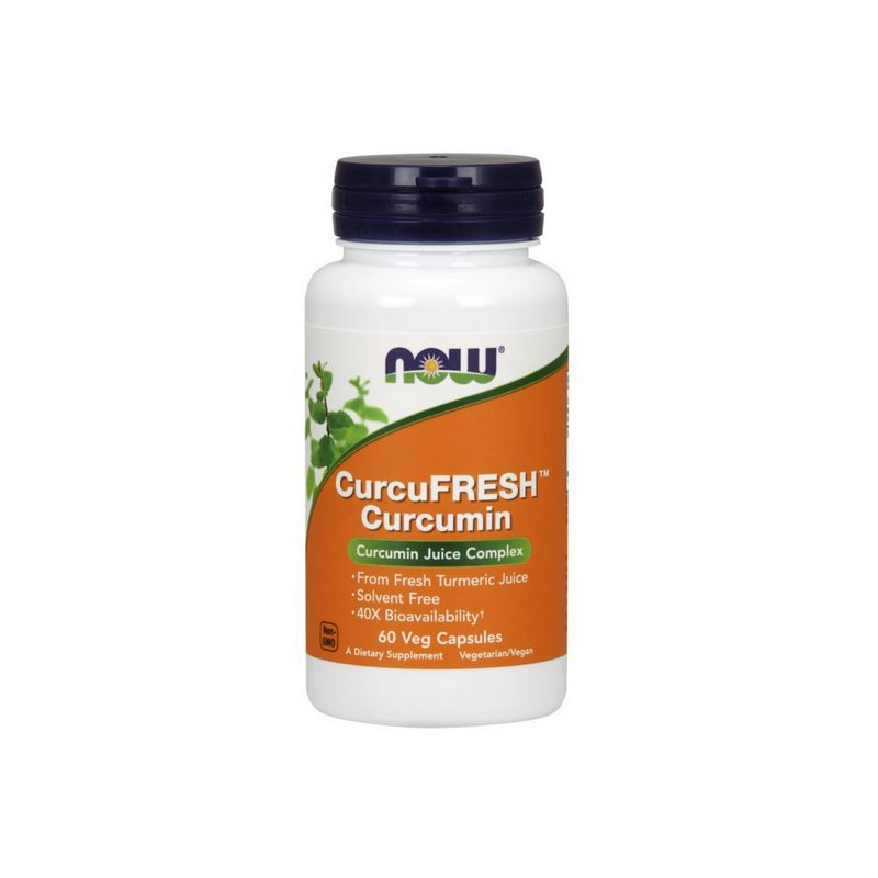 Curcu Fresh Curcumin 60 Caps - Now Foods