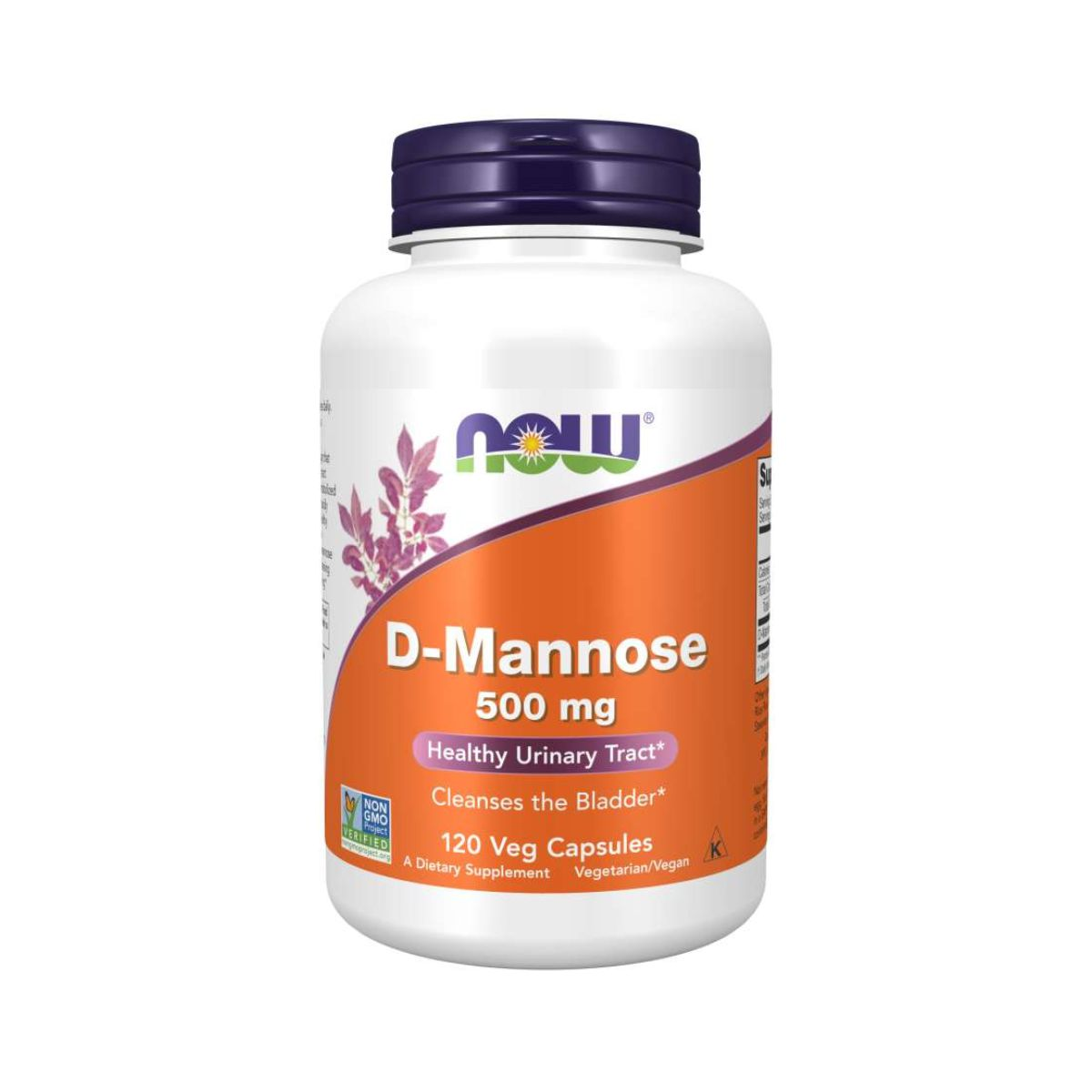 D-Mannose 500mg 120Caps - Now Foods
