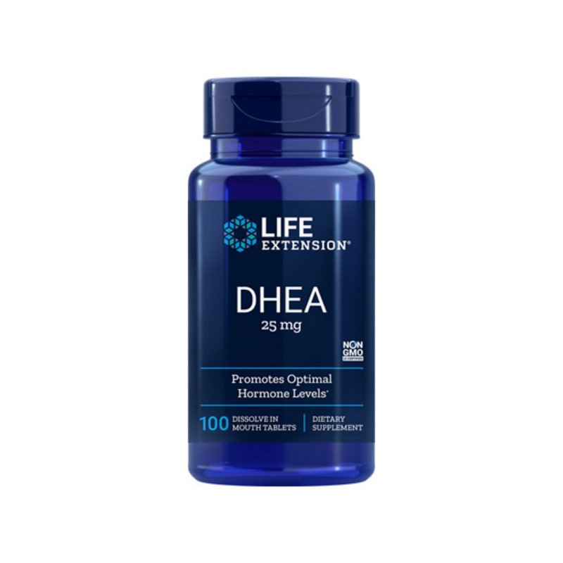 DHEA 25mg 100 Caps - Life Extension