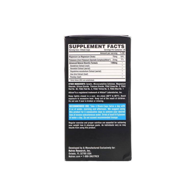 Diurético Lipo 6 Black Diuretic 80Caps - Nutrex