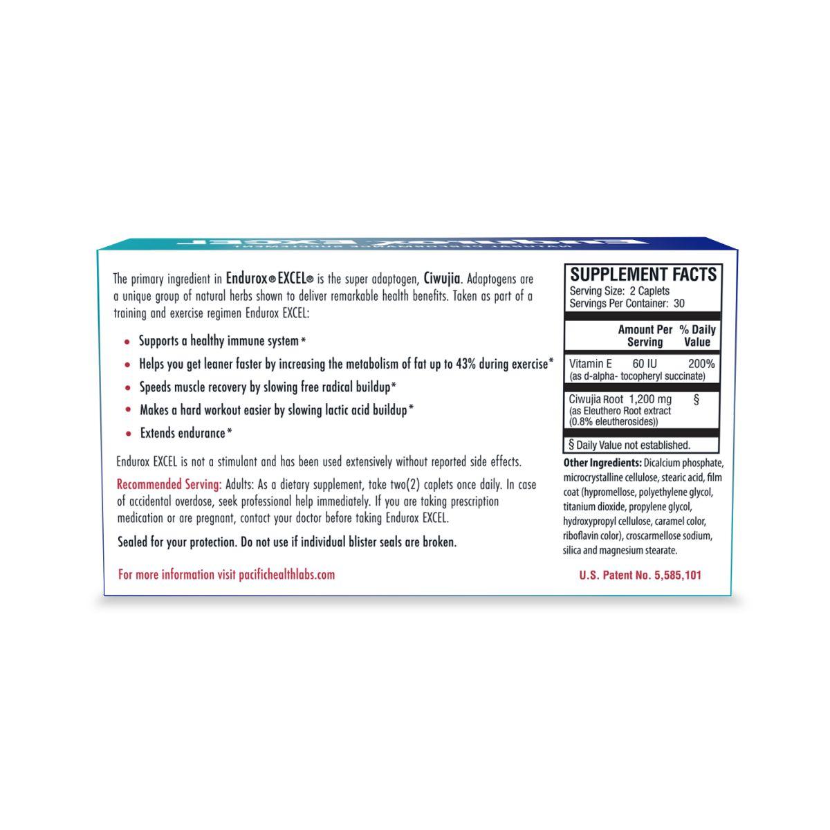 Endurox Excel 60 Caps - Pacific Health
