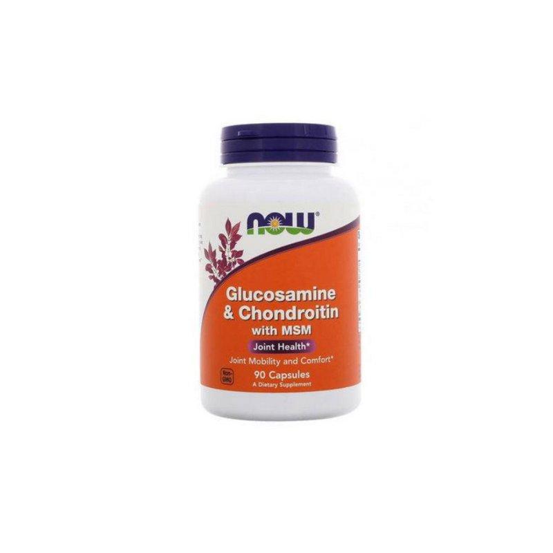Glucosamine e Chondroitin com MSM 90 Caps - Now Foods