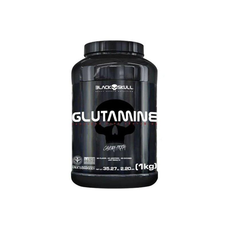 Glutamina 1Kg 220 Lbs - Black Skull
