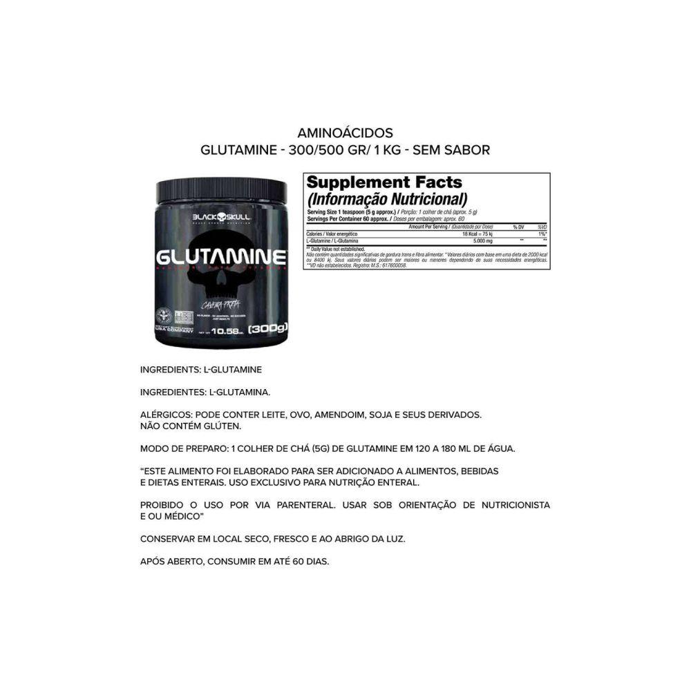 Glutamina 300Kg - Black Skull