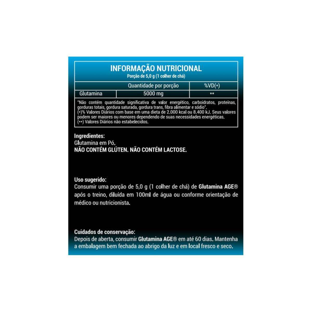 Glutamina AGE 300Kg - Nutrilatina