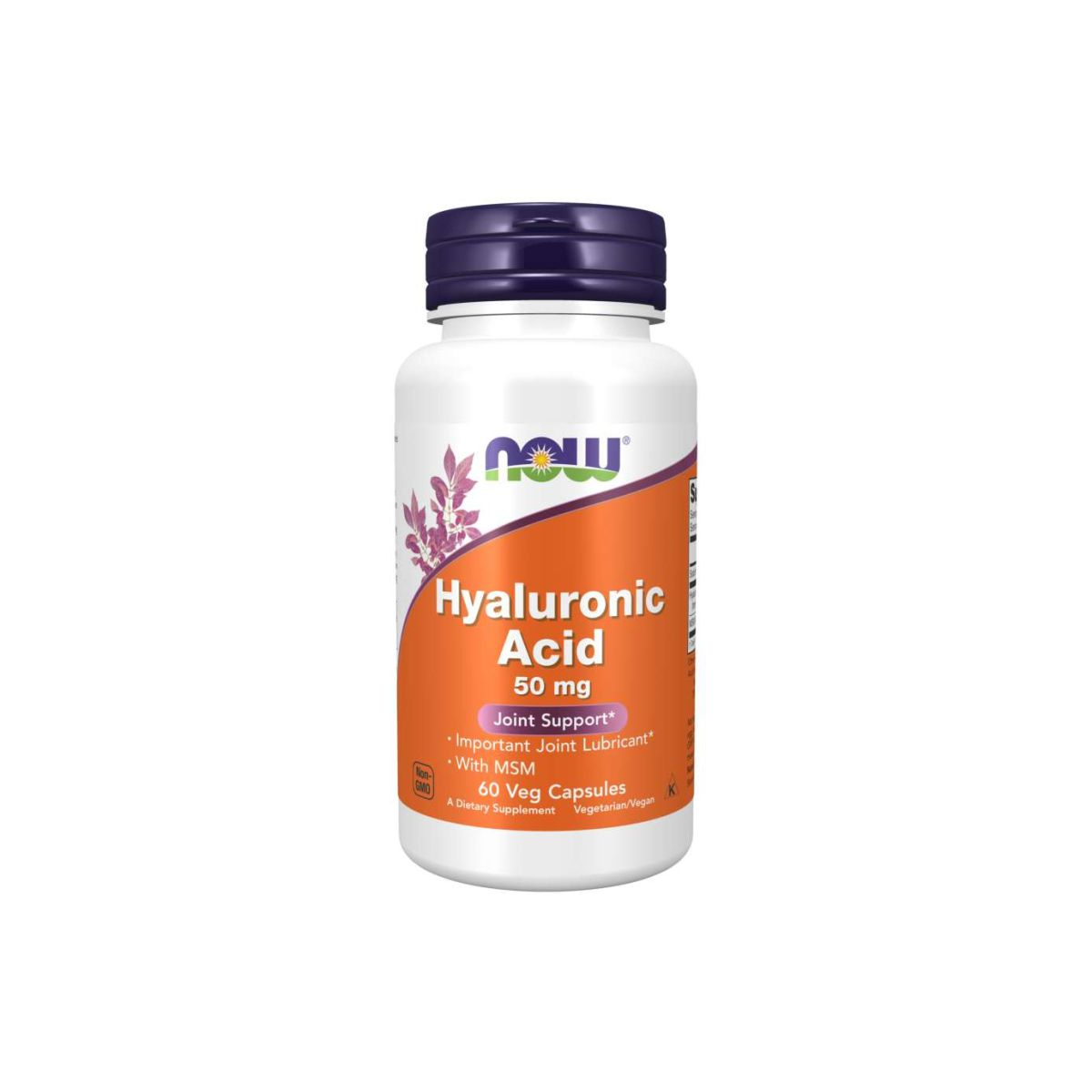 Hyaluronic Acid 50 mg 60 Caps - Now Foods