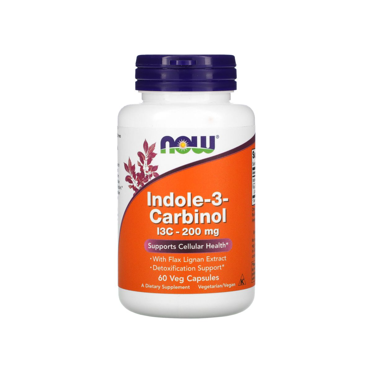 Indole-3-Carbinol I3C 200mg 60 Caps - Now Foods