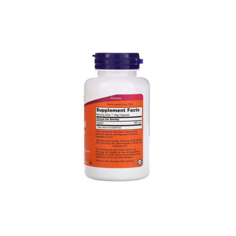 Inositol 500 mg 100 Caps - Now Foods