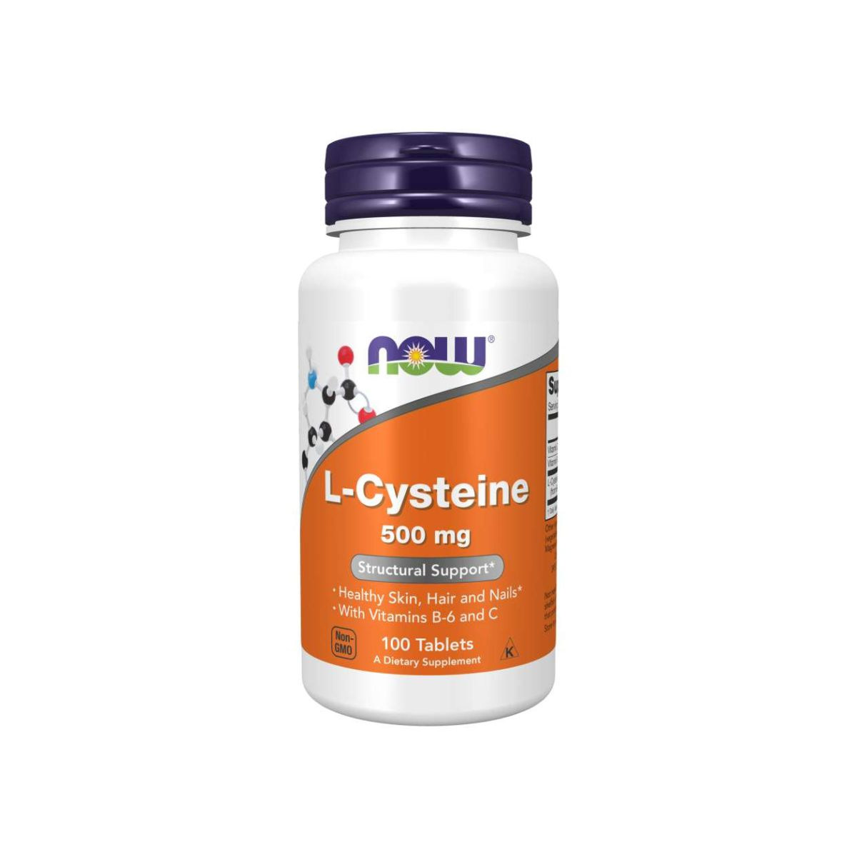 L-Cysteine 500mg 100 Tabs - Now Foods