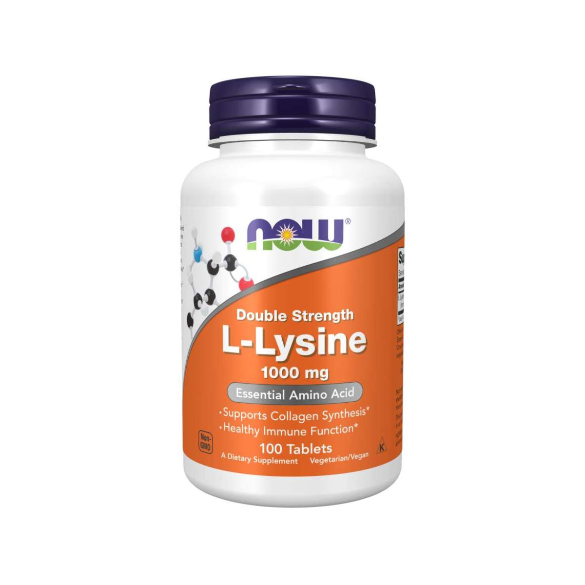 L-Lysine 1000mg Double Strength 100 Tabs - Now Foods