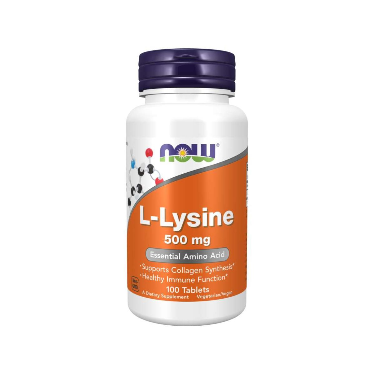 L-Lysine 500mg Essential Amino Acid 100Tabs - Now Foods