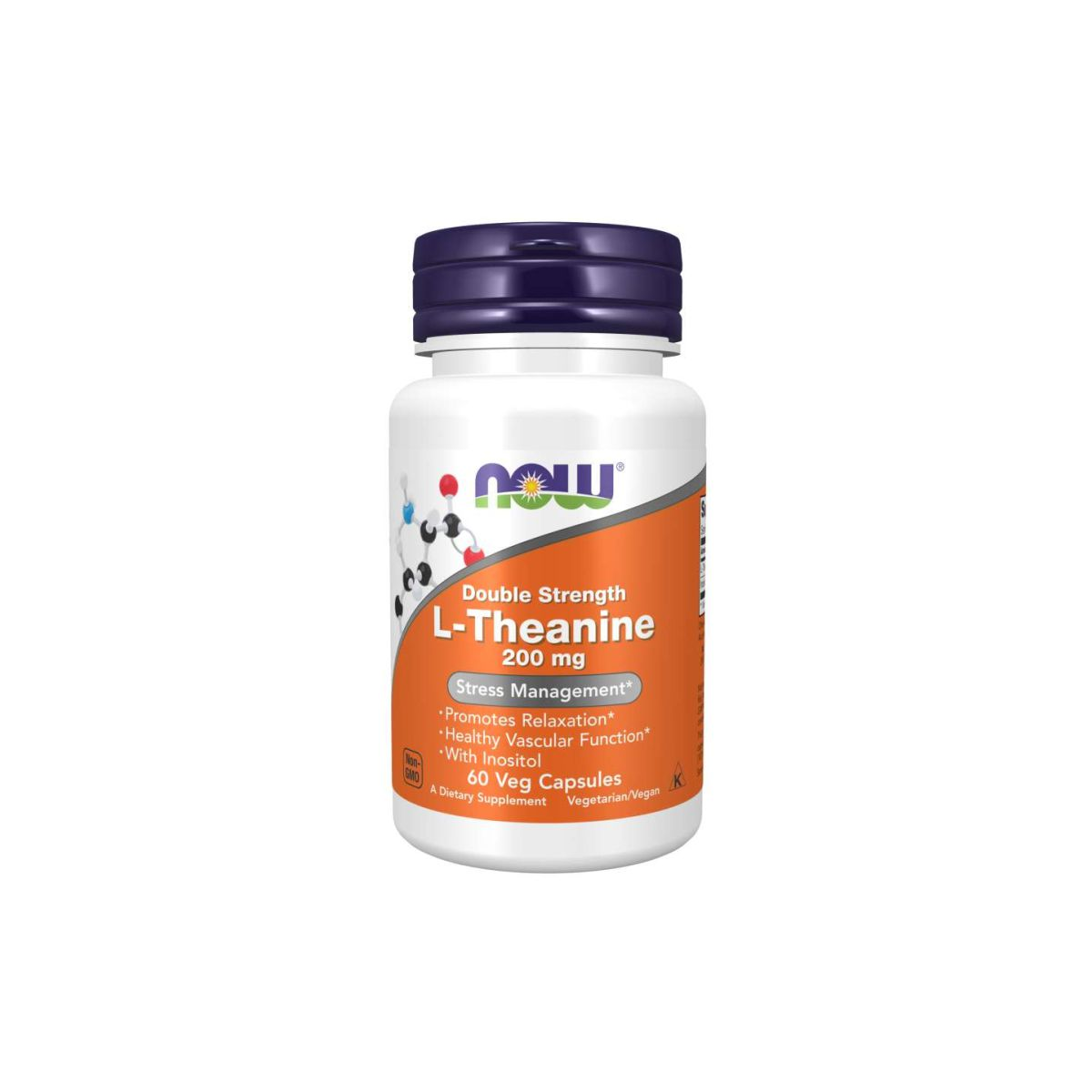 L-Theanine 200mg Double Strength 60 Caps - Now Foods
