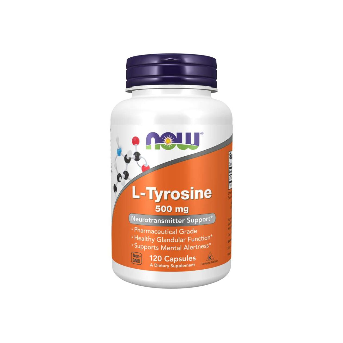 L-Tyrosine 500mg 120 capsulas - Now Foods