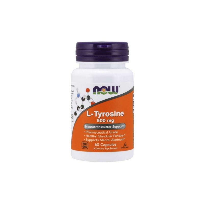 L-Tyrosine 500mg 60 capsulas - Now Foods
