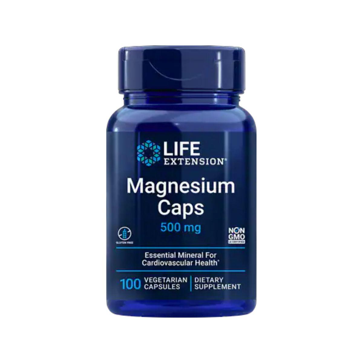 Magnesium Caps 500mg 100 Vegetarian Caps - Life Extension