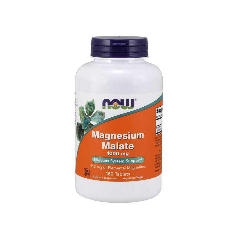 Malato de magnésio 1000 mg 180 Tabletes - Now Foods