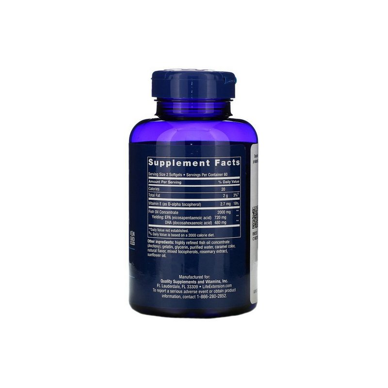 Omega 3 Mega EPA/DHA 120 Caps - Life Extension