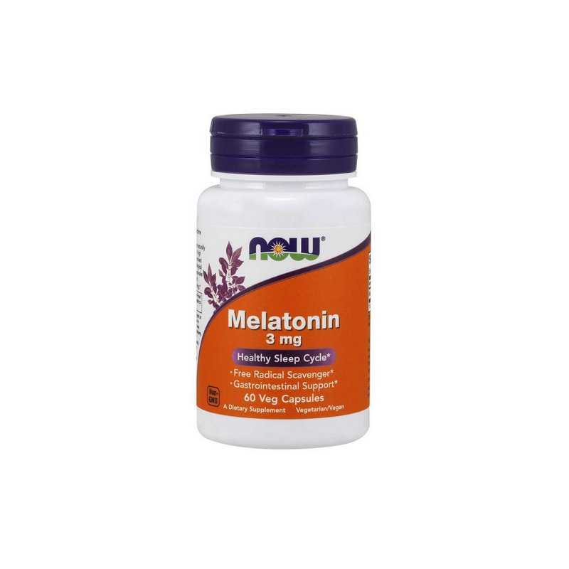 Melatonina 3 mg 60 Veg Capsulas - Now Foods
