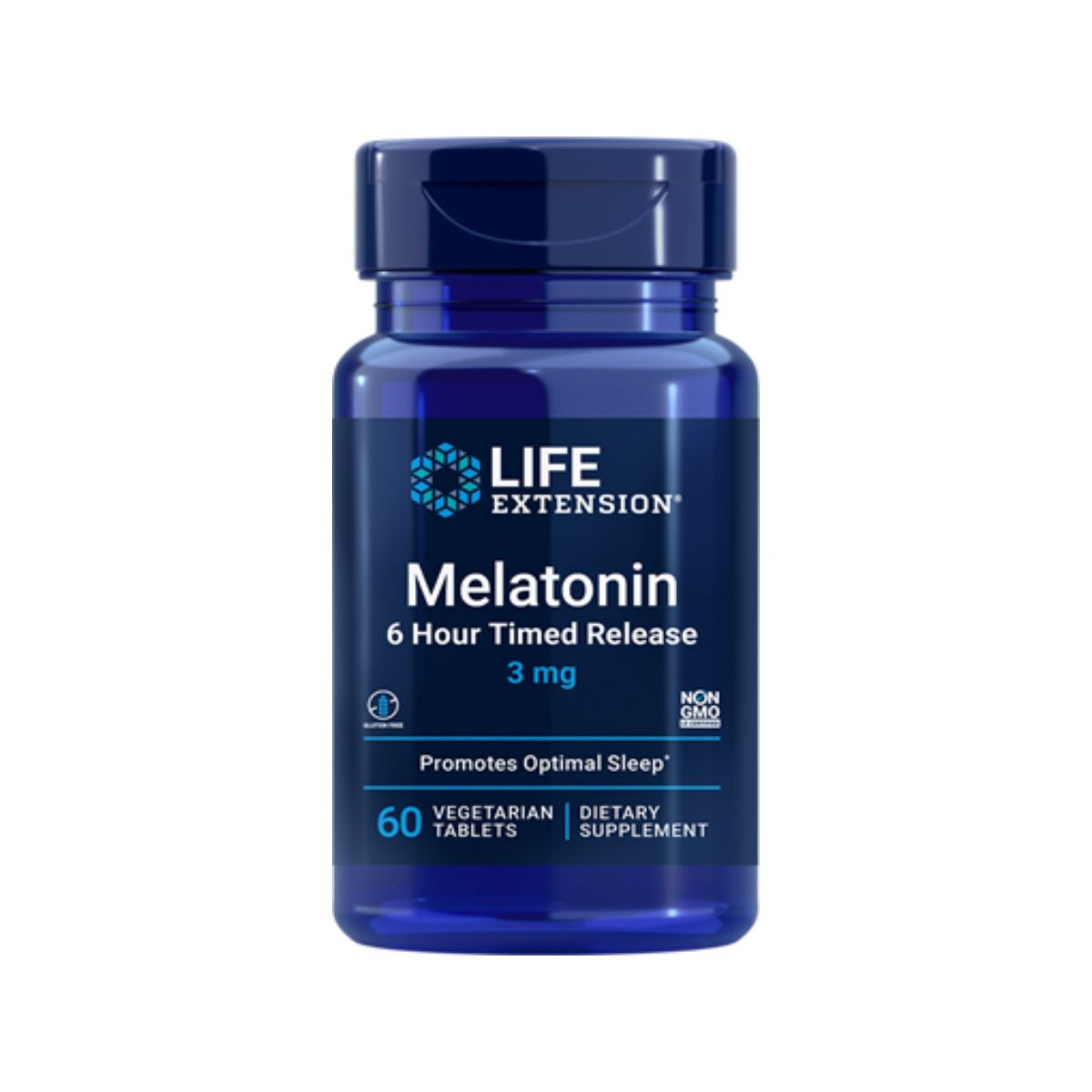 Melatonina 3Mg Timed Release 60 Caps - Life Extension