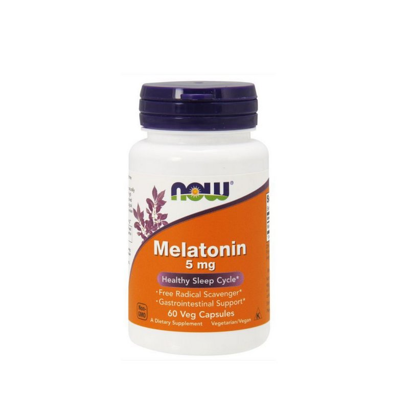 Melatonina 5 mg 60 Veg Capsulas - Now Foods
