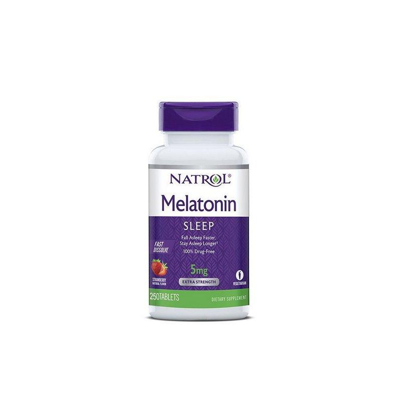 Melatonina 5mg Sub-Lingual 250 Tabs Ação Rápida - Natrol