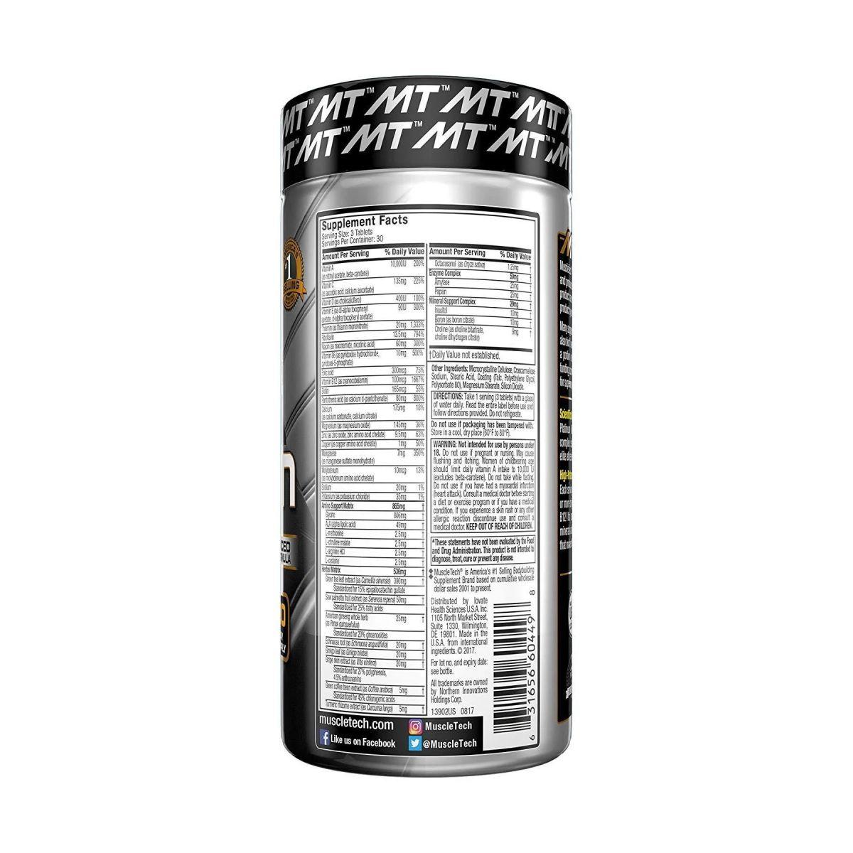 Multivitamínico  Multi Vitamin Platinum 90 Tabs - MuscleTech