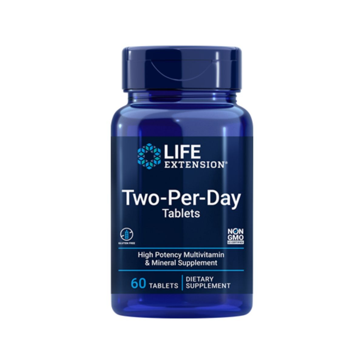 Multivitaminico Two Per Day Tablets 60 Caps - Life Extension