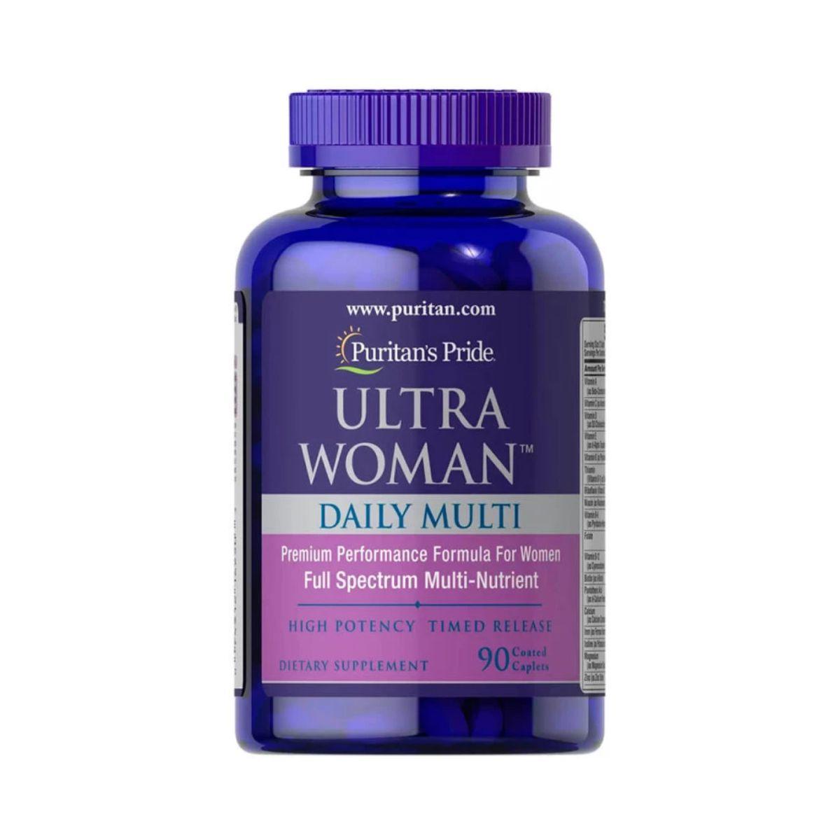 Multivitamínico Ultra Woman  90 Capsulas - Puritans Pride