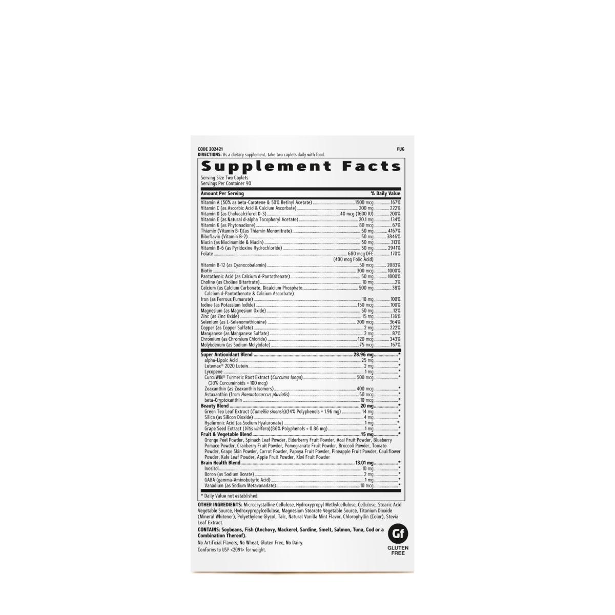 Multivitamínico  Womens Ultra Mega 90 Tabs - GNC