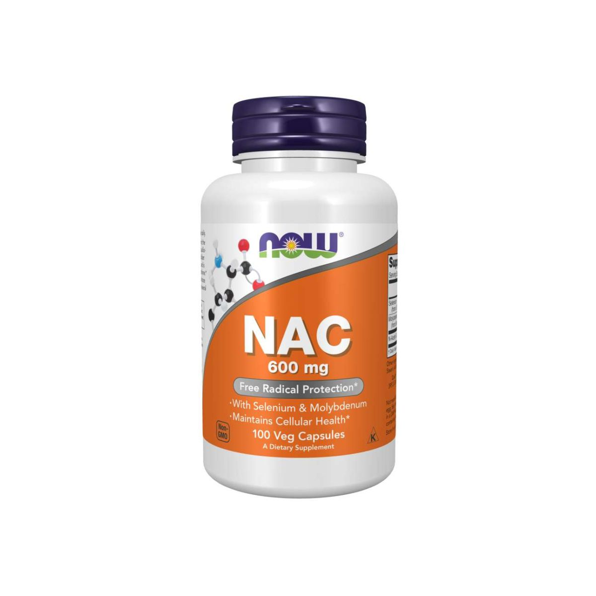 N-Acetil Cisteína NAC 600mg 100 Caps - Now Foods