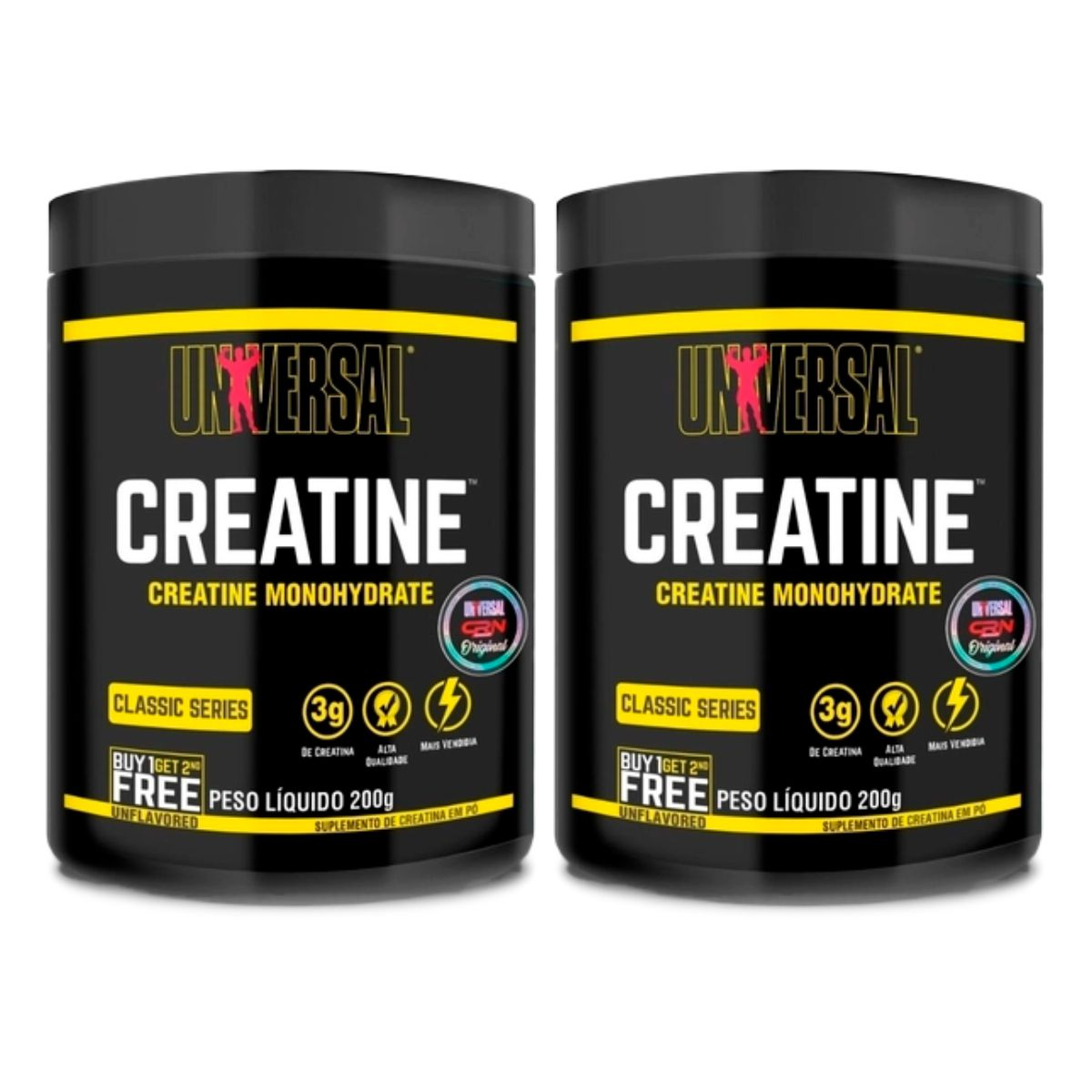 Nova Creatina Monohidratada Combo 2x200g - Universal Nutrition