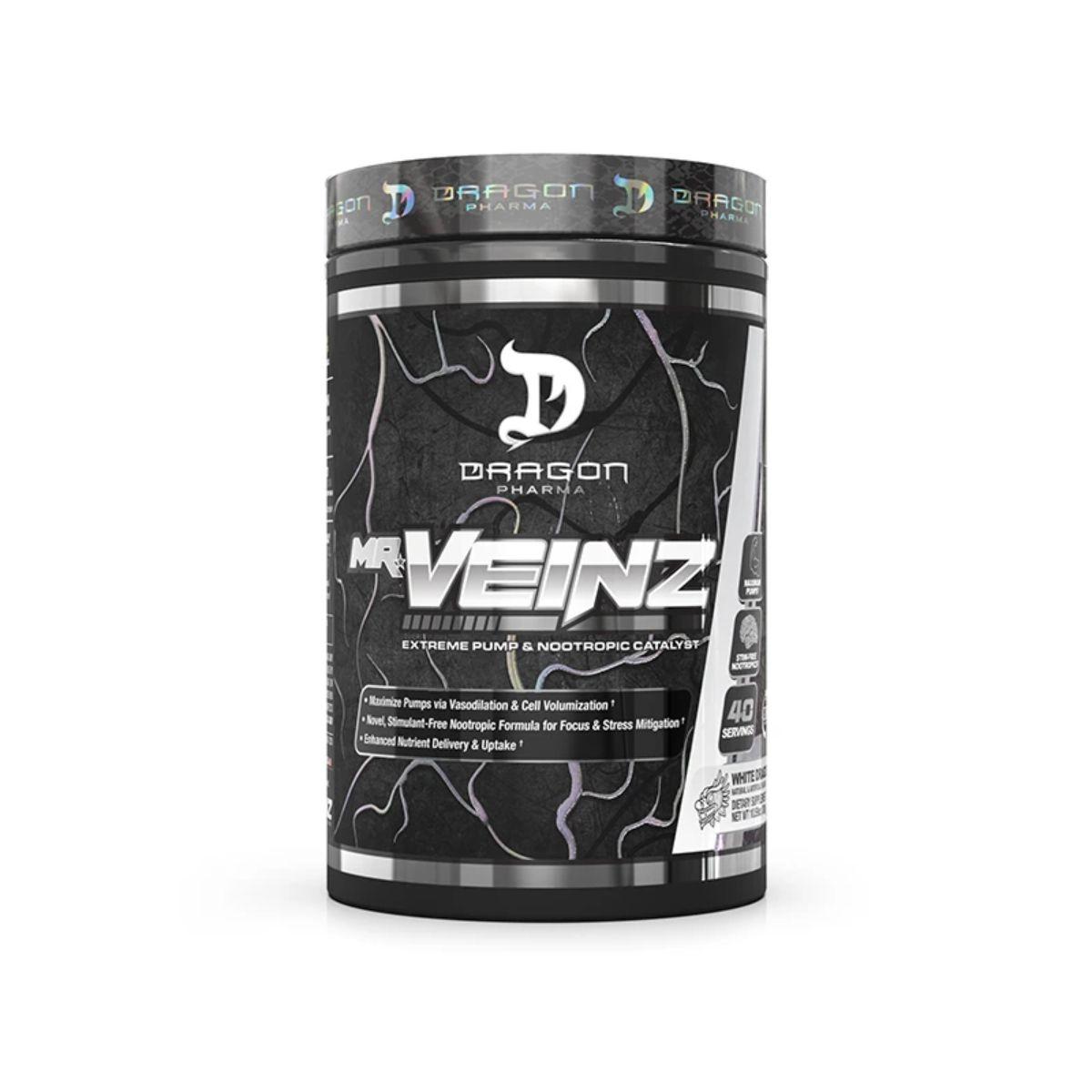 Novo Pré-Treino  MR. Veinz 40 Doses 300G - Dragon Pharma