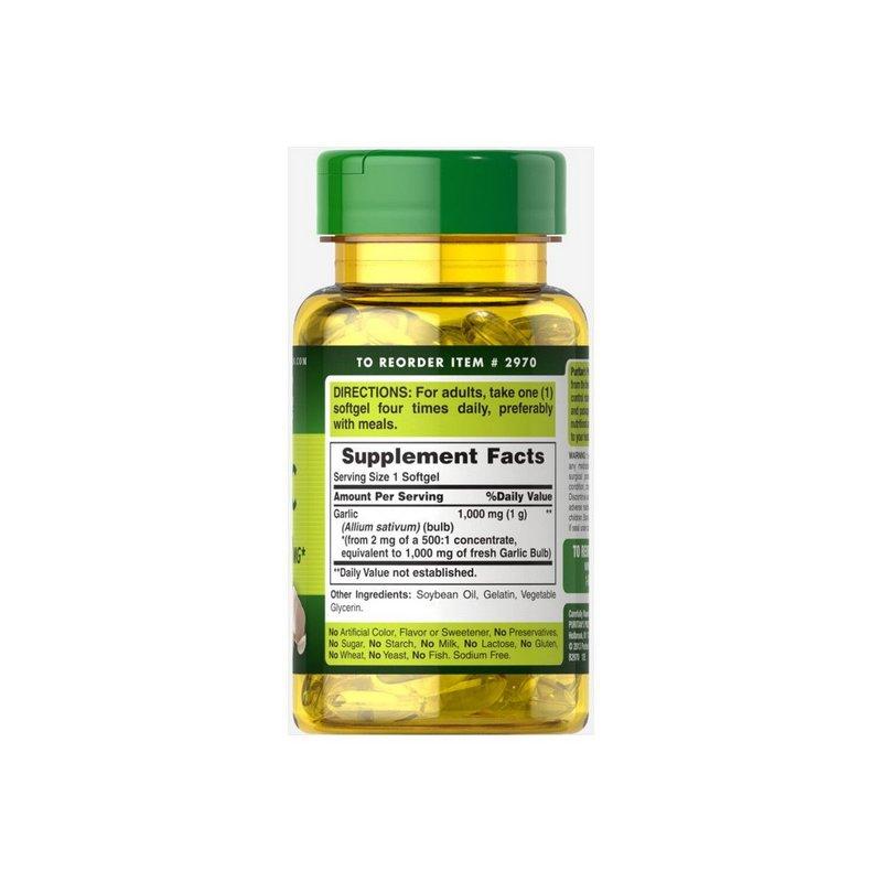 Oleo de Alho Garlic Oil 1000 mg - Puritans Pride
