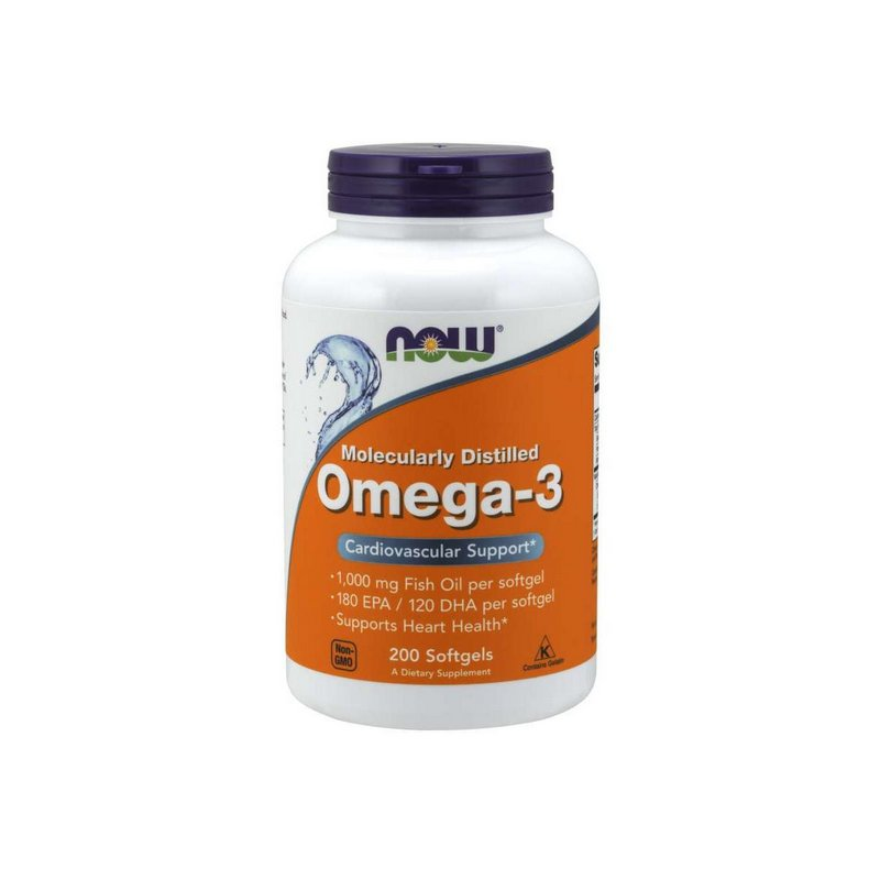 Omega 3 180EPA/120DHA 1000mg 200 Caps -  Now Foods