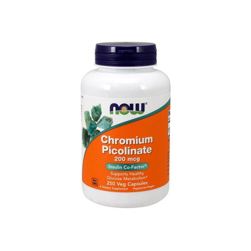 Picolinato de Cromium 200mcg 250 Caps - Now Foods