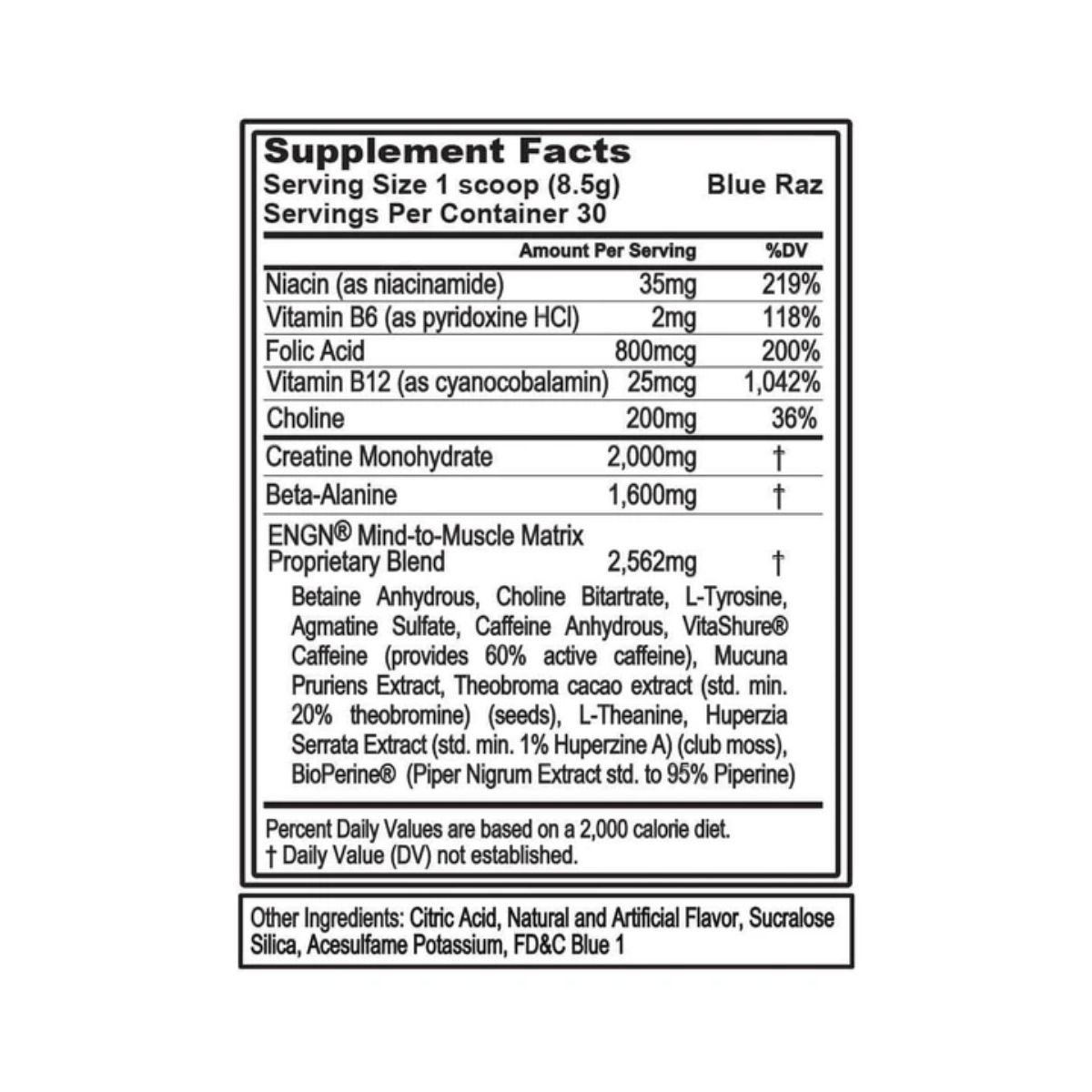 Pré-Treino Engn 255g 30 Doses - Evolution Nutrition