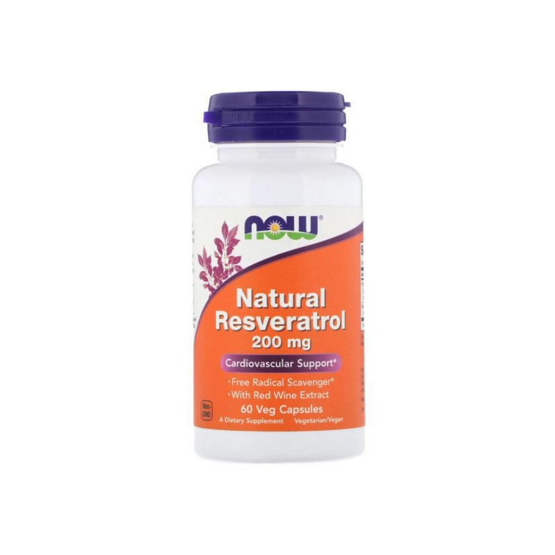 Resveratrol Natural 200 mg 60 Caps  - Now Foods