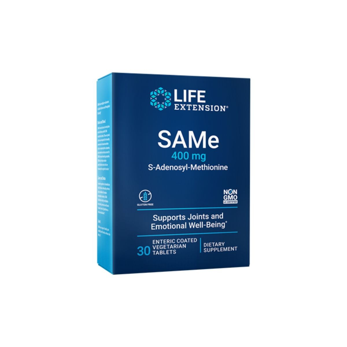 SAMe  S-Adenosyl Methionine 400 mg 30 Caps - Life Extension