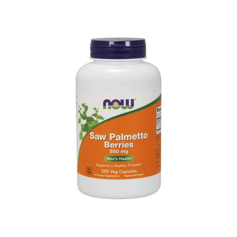 Saw Palmetto Berries 550mg 250 Caps - Now Foods