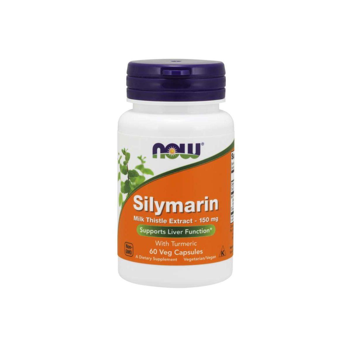Silymarin Milk Thistle Extract 150mg 60 Cápsulas Vegetarianas - Now Foods