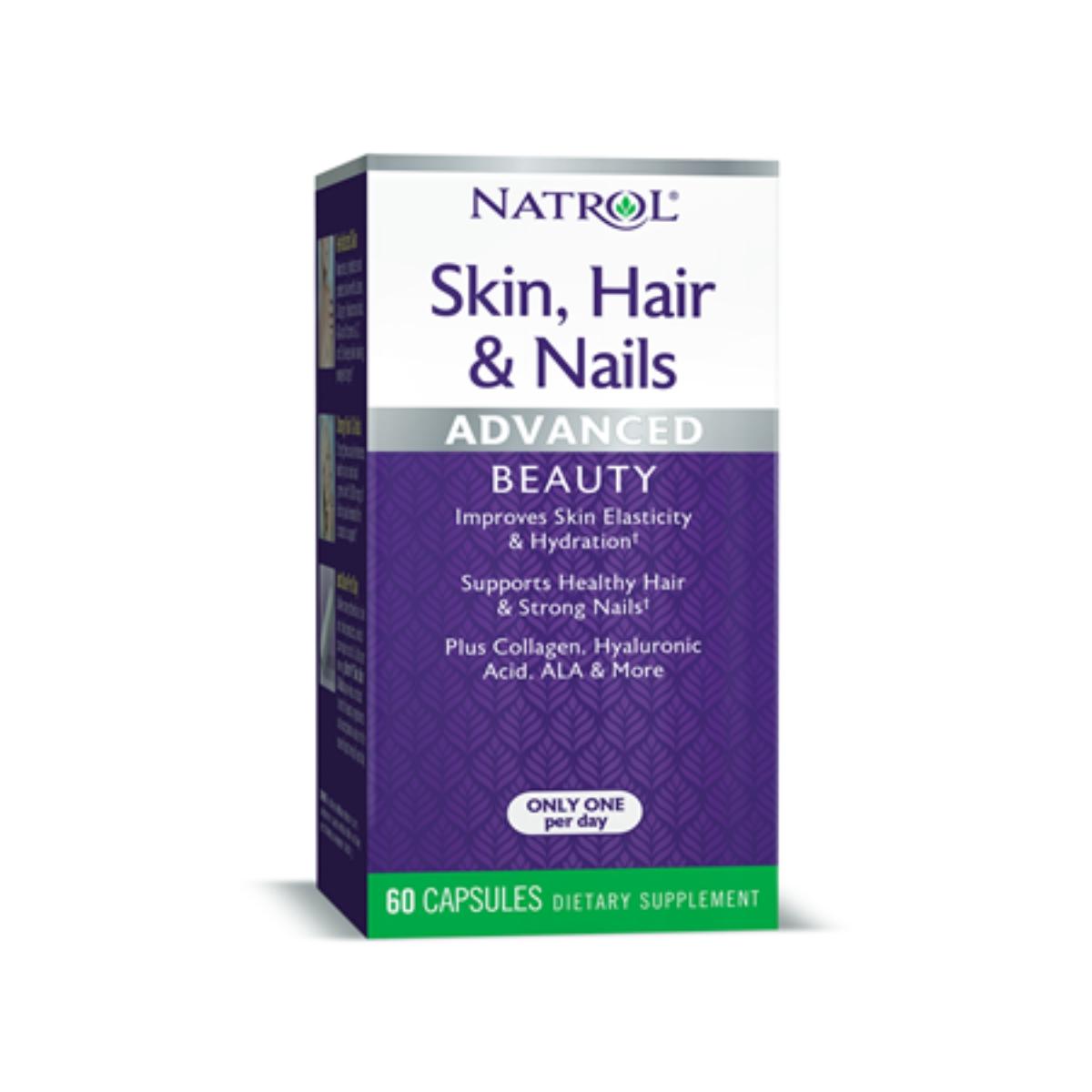 Skin, Hair & Nails Adanced Beauty 60Caps -  Natrol