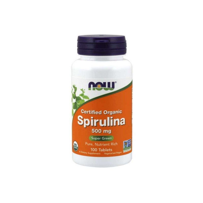 Spirulina 500 mg 100 Comprimidos Orgânicos - Now Foods